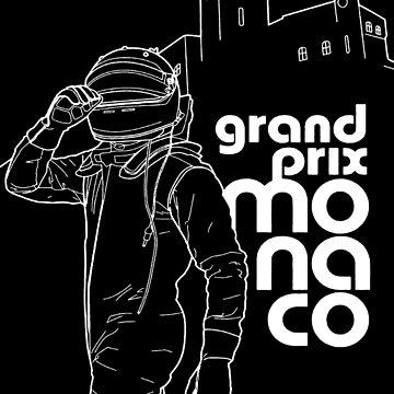 MONACO: Grand Prix Auto Racing Werbedruck von posterbobs
