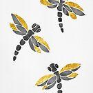 Dragonflies - Black & Golden by zephyrra