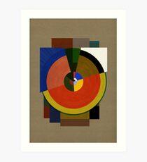 Abstract Deco SIX Kunstdruck
