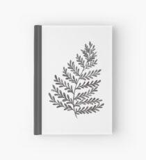 Fern Leaf - Black & White Hardcover Journal