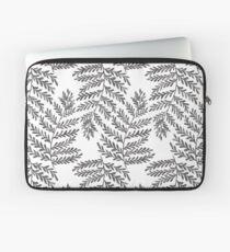Fern Leaf - Black & White Laptop Sleeve