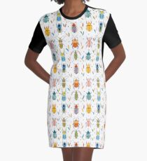 Colourful beetles Graphic T-Shirt Dress