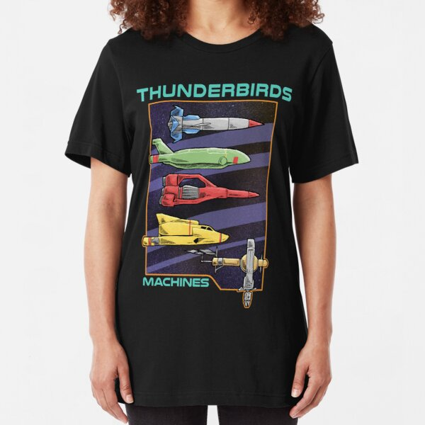 Thunderbirds Machines Slim Fit T-Shirt