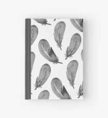 Watercolor Feathers - Black & White Hardcover Journal