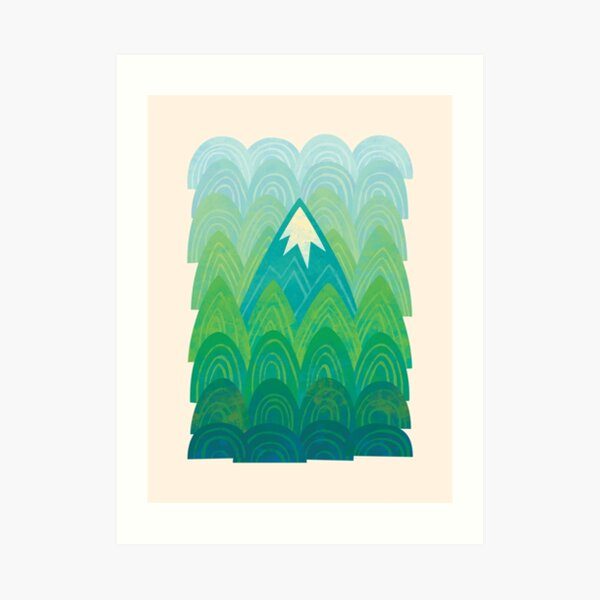 Towering Mountain Art Print