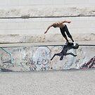 skateboard flight by KERES Jasminka