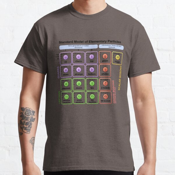 Particles Standard Model T-Shirt Higgs Boson Physics Teacher Classic T-Shirt
