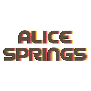 Alice Springs Retro by designkitsch