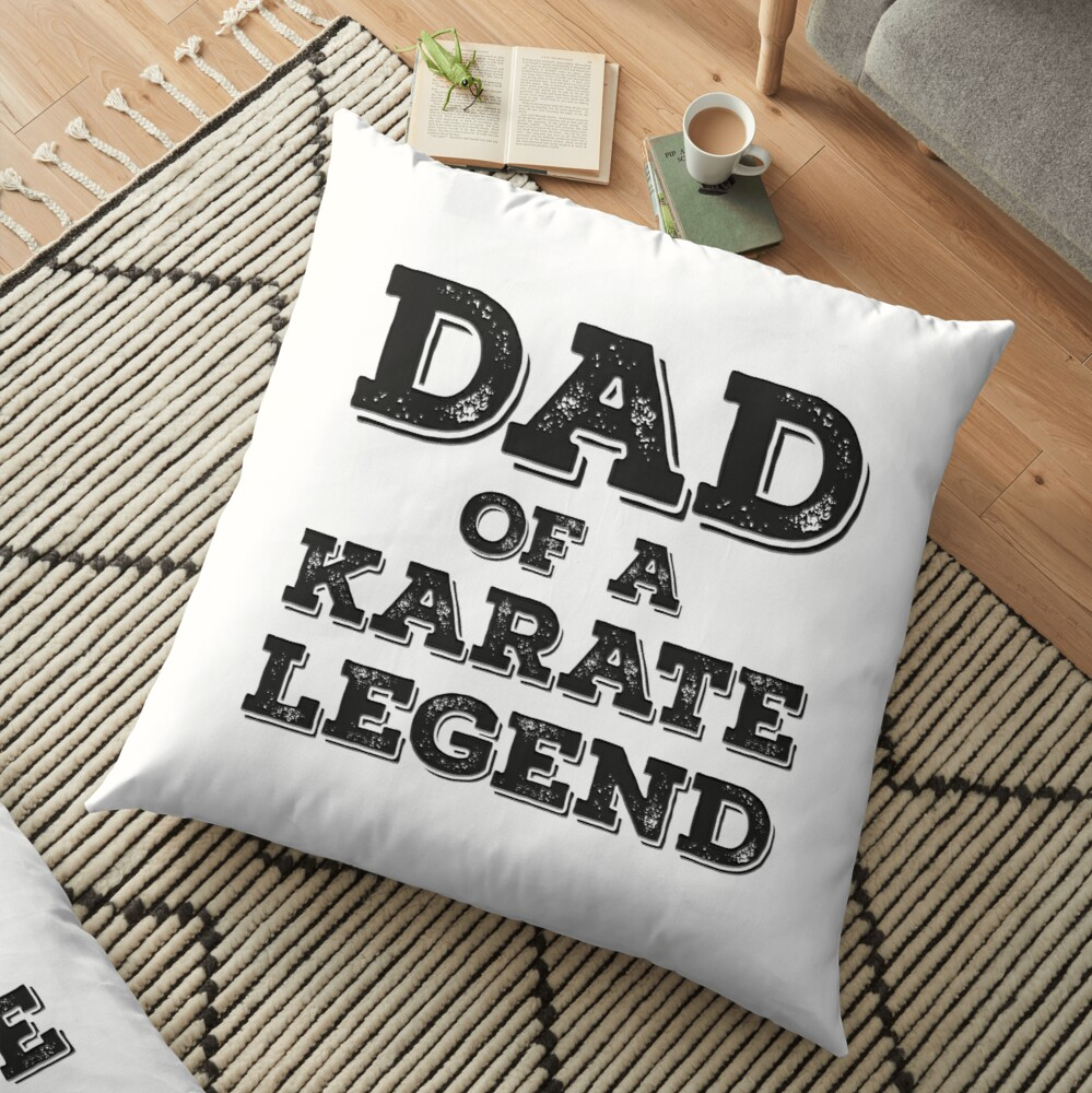 Proud Karate Dad Of A Son Daughter Funny Karateka Father's Day Gift  Idea Bodenkissen