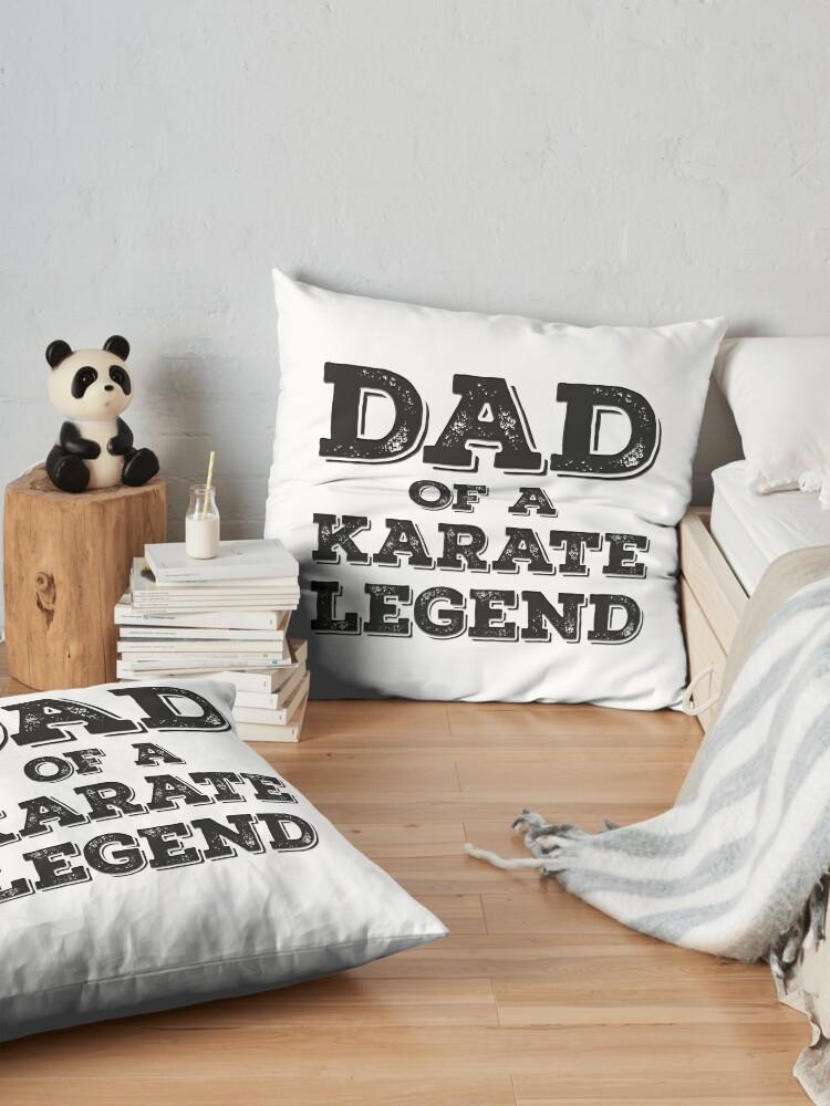 Alternative Ansicht von Proud Karate Dad Of A Son Daughter Funny Karateka Father's Day Gift  Idea Bodenkissen