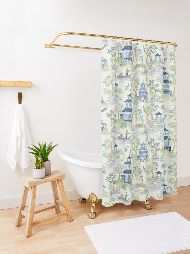Alternate view of Chinoiserie Shower Curtain