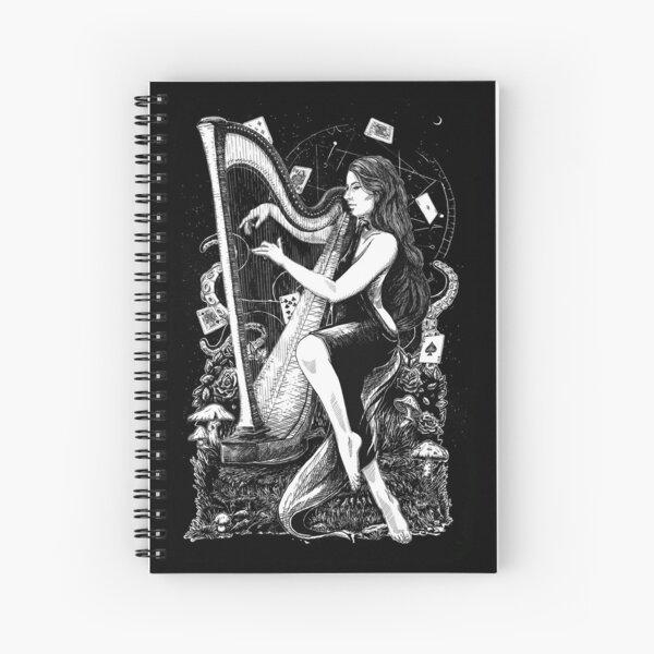 Dark Harpist Spiral Notebook