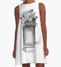 Rose Beer A-Line Dress