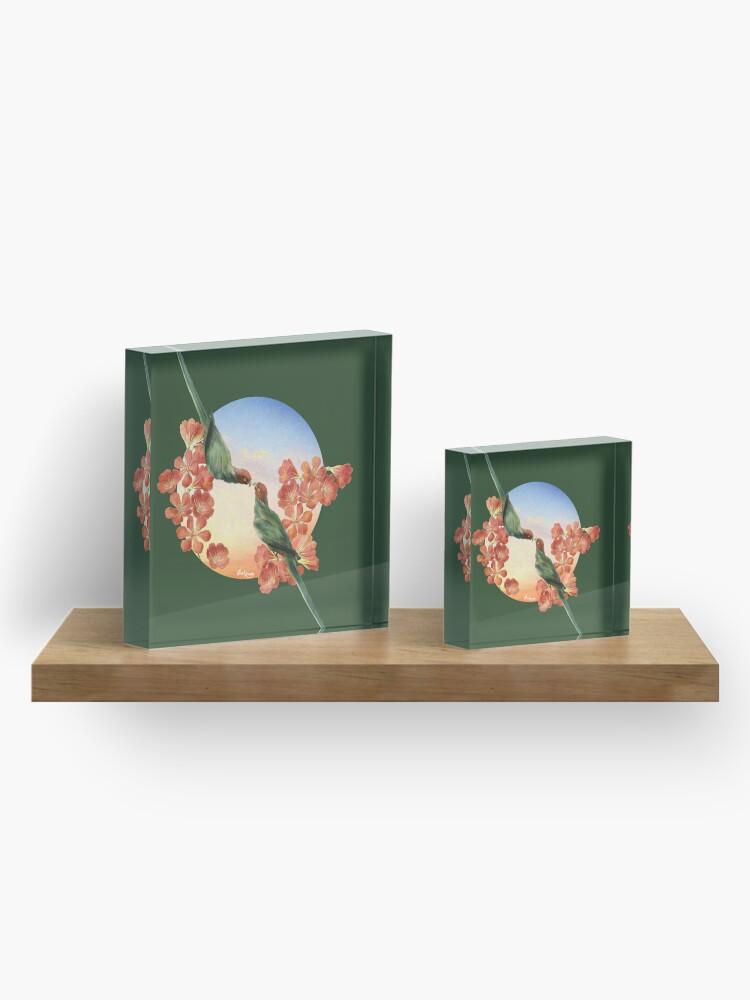 Alternate view of Lover Birds Acrylic Block