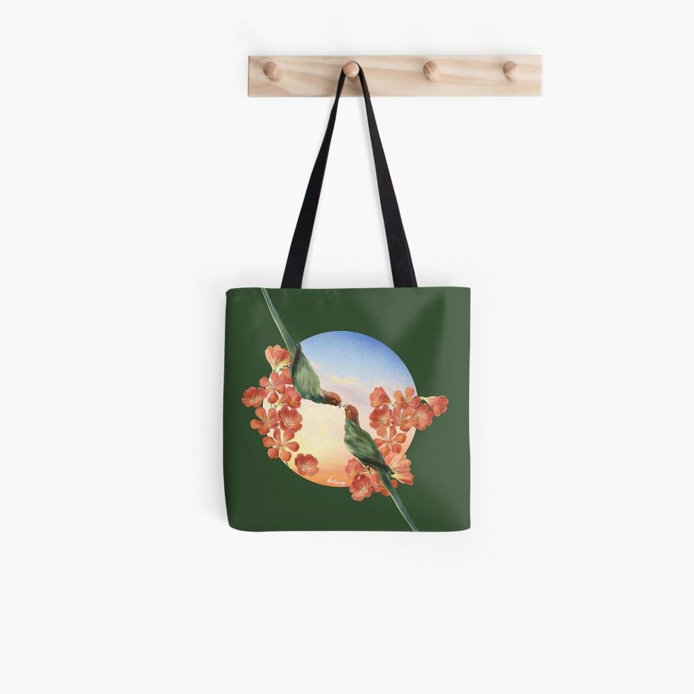 Lover Birds Tote Bag