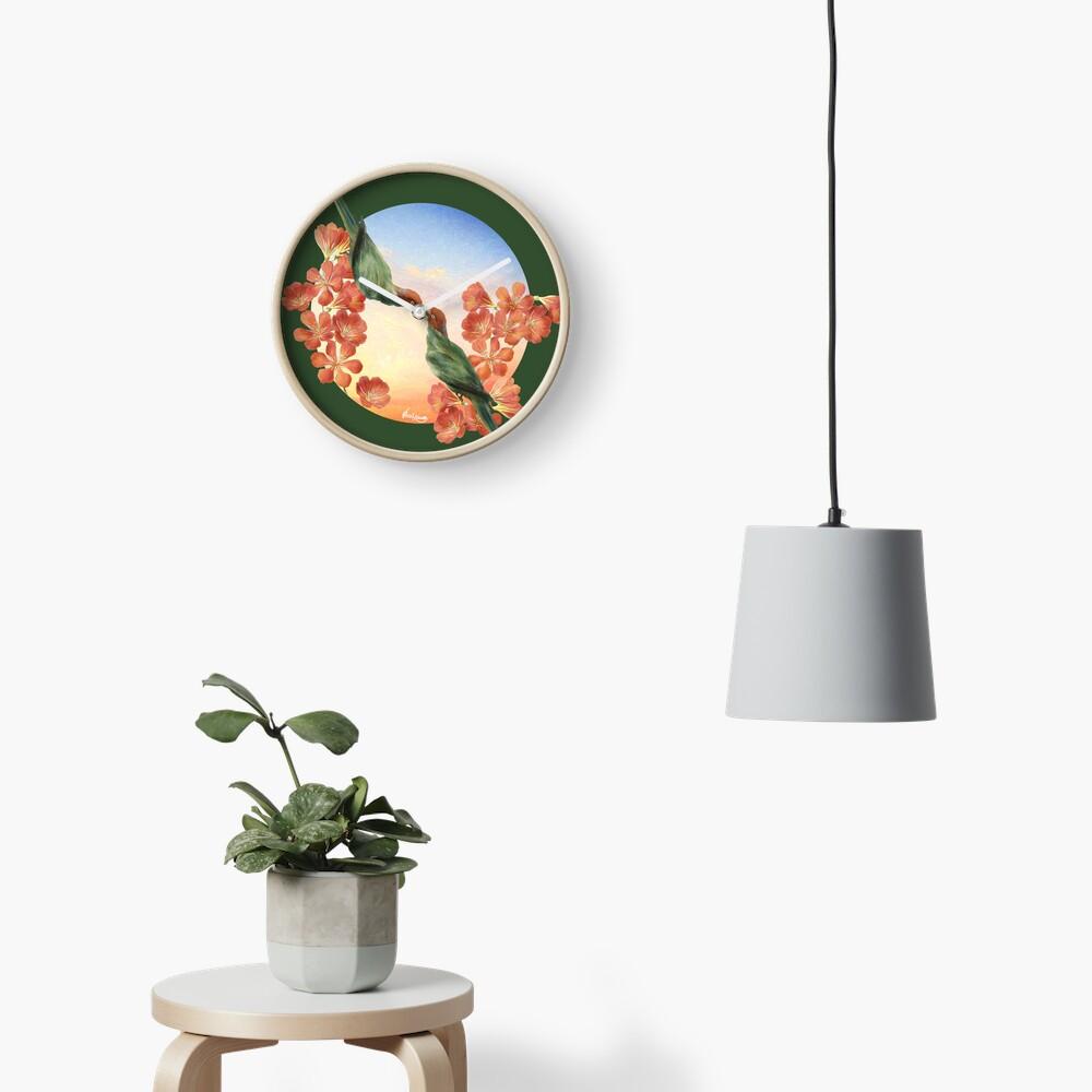 Lover Birds Clock