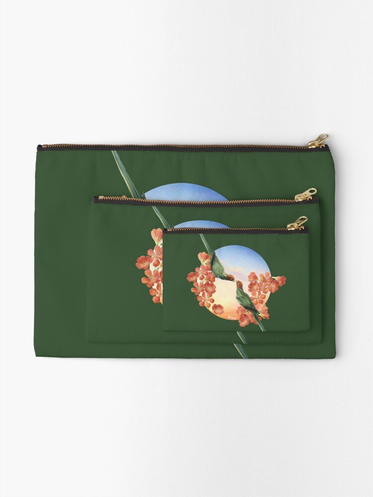 Alternate view of Lover Birds Zipper Pouch