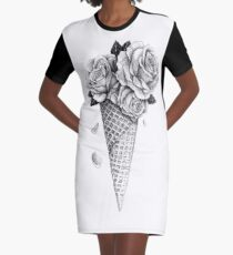 Vestido camiseta Rosas de helado