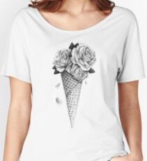 Roses Glacées T-shirts coupe relax