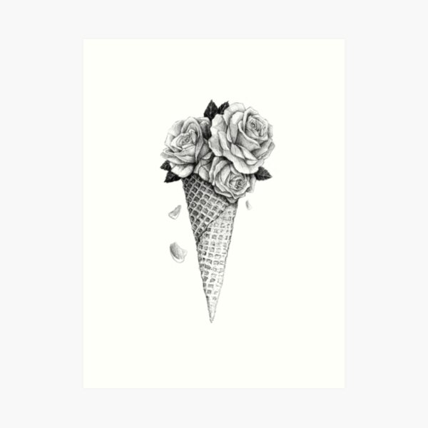 Ice Cream Roses Art Print