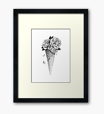 Lámina enmarcada Rosas de helado