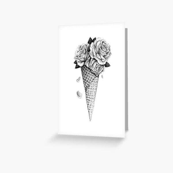 Ice Cream Roses Greeting Card