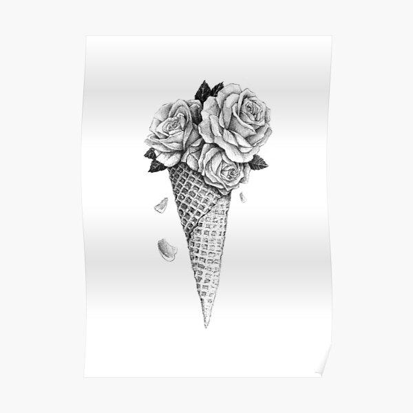 Ice Cream Roses Poster