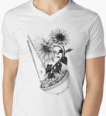 Sunflower Ramen V-Neck T-Shirt