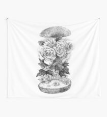 Flower Burger Wall Tapestry