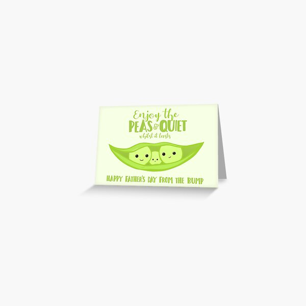 Fathers Day from the BUMP - Funny - Cute - Puns - Peas and Quiet Greeting Card
