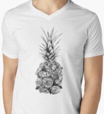 Pineapple Flowers V-Neck T-Shirt