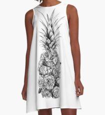 Pineapple Flowers A-Line Dress