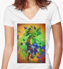 5067 Kokopelli Women's Fitted V-Neck T-Shirt