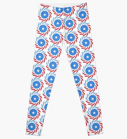 Somali American Multinational Patriot Flag Series Leggings