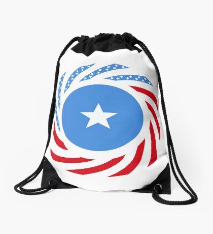 Somali American Multinational Patriot Flag Series Drawstring Bag