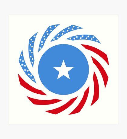 Somali American Multinational Patriot Flag Series Art Print