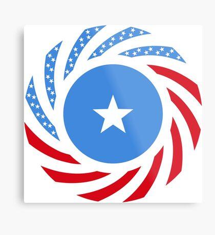 Somali American Multinational Patriot Flag Series Metal Print