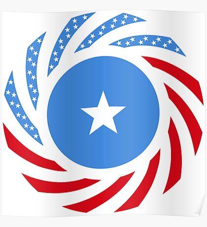 Somali American Multinational Patriot Flag Series Poster