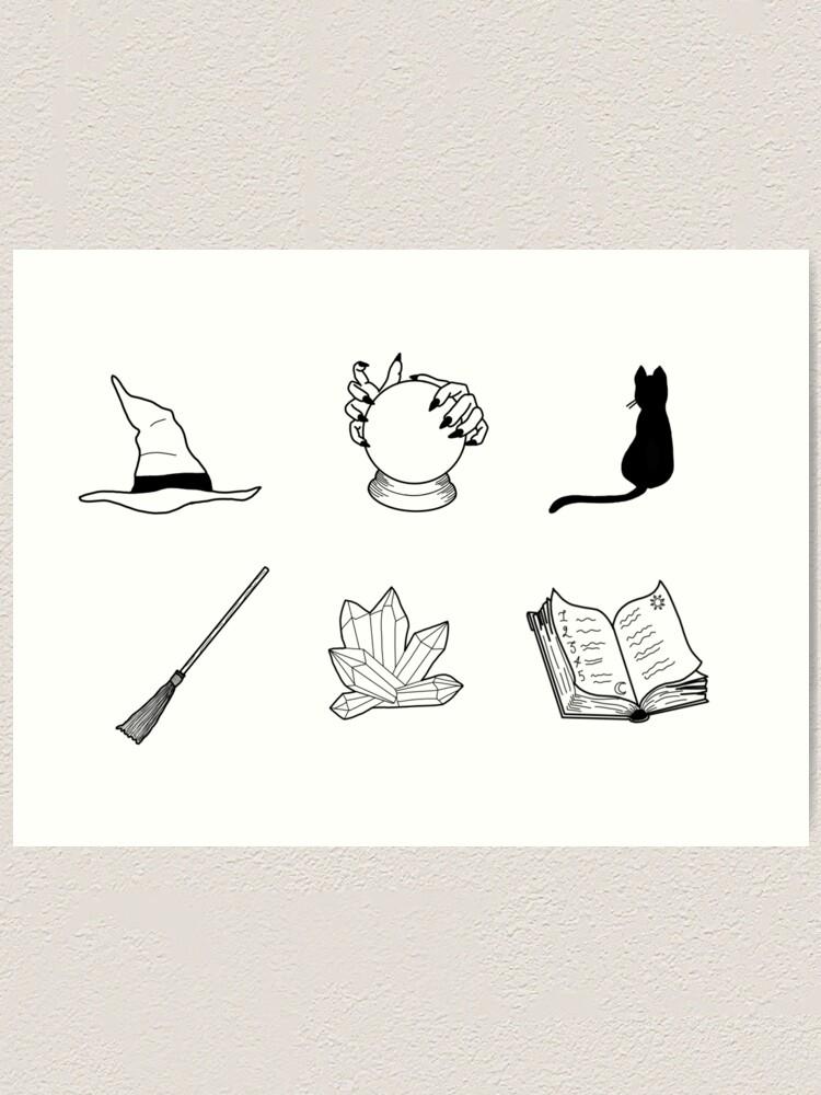 Alternate view of Witch Essentials Art Print