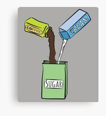Lienzo Me gusta mi azucar con cafe y crema