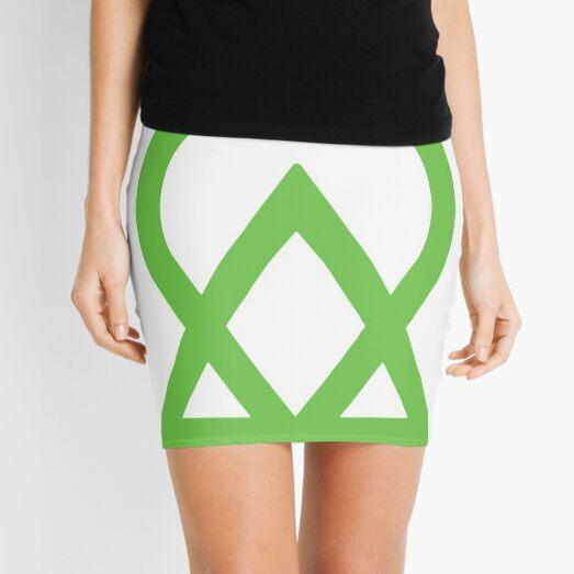 #Kabbalah #Sign #Symbol #Green, Mini Skirt