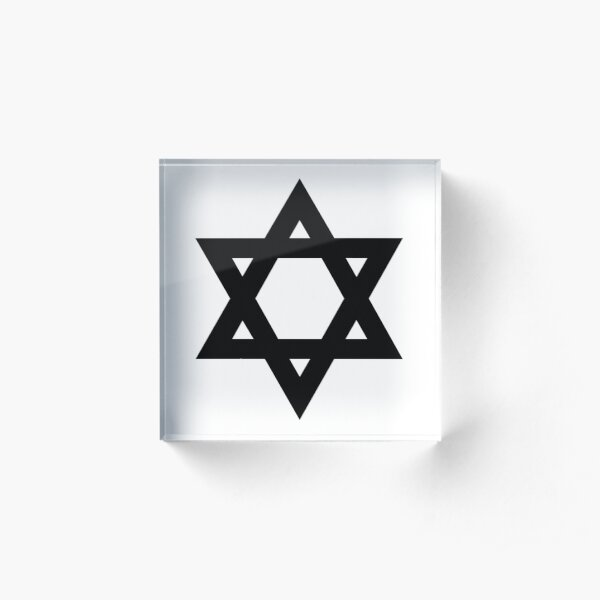 Jewish,  #Star of #David #Symbol #StarOfDavid Sign Acrylic Block