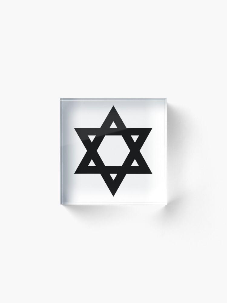 Alternate view of  #Star of #David #Symbol  #StarOfDavid Sign Acrylic Block