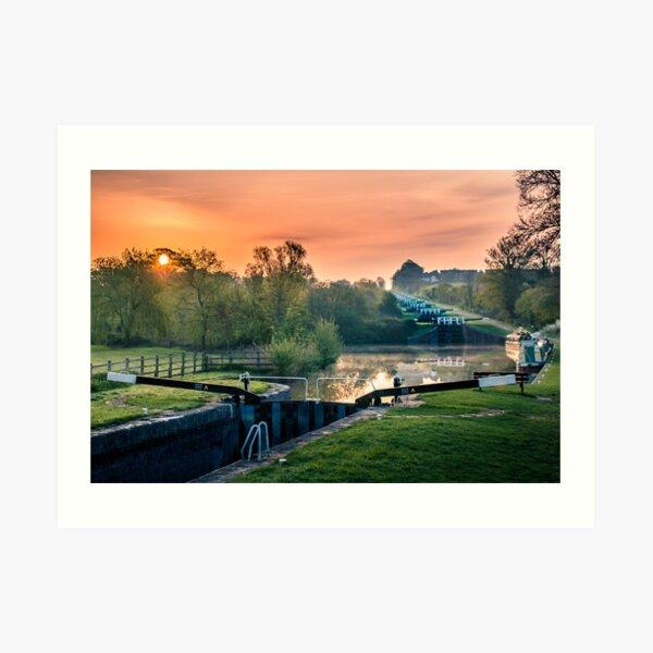 Caen Hill Locks Art Print