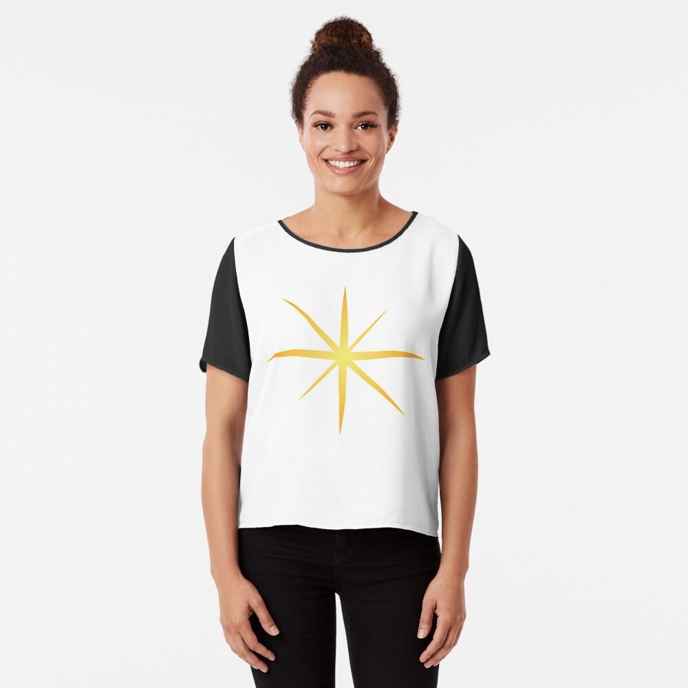 #Star #Symbol  #Sign Chiffon Top