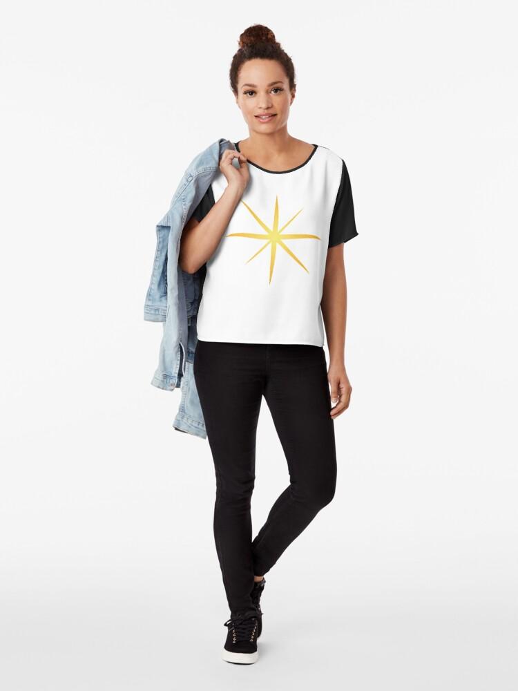 Alternate view of #Star #Symbol  #Sign Chiffon Top