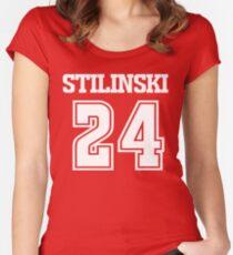 Stiles Stilinski Lacrosse Jersey - Back Women's Fitted Scoop T-Shirt