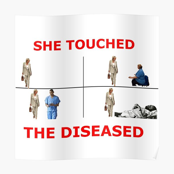 Diana - Touched the Diseased Poster