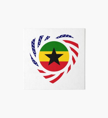 Ghanaian American Multinational Patriot Flag Series Art Board Print