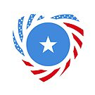Somalian American Multinational Patriot Flag Series by Carbon-Fibre Media
